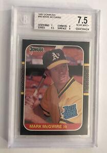 1987 Donruss Baseball #46 Mark McGwire Rookie BGS NM+ 7.5 OAKLAND A's