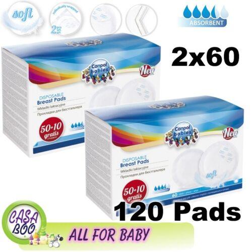 120 jetable maternité Nursing Breast Pads 2 x60pcs-Très Doux Absorbant NEUF