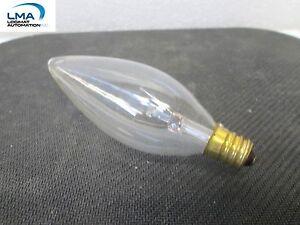 5x-SPECTRO-CC-140-40W-CLEAR-CANDELABRA-TORPEDO-BULB-LIGHT-LAMP-130V-ROUND-NEW