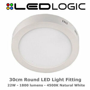 Modern and bright led round surface mount ceiling light 30cm image is loading modern and bright led round surface mount ceiling aloadofball Images