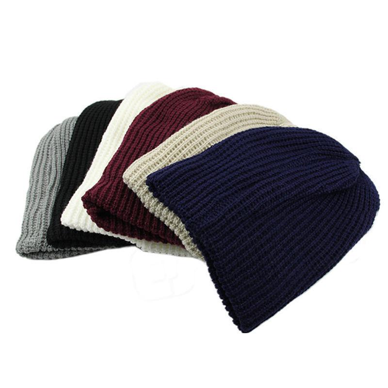 Men Women Warm Oversize Beanie Skull Baggy Cap Slouchy Knit Hat side88