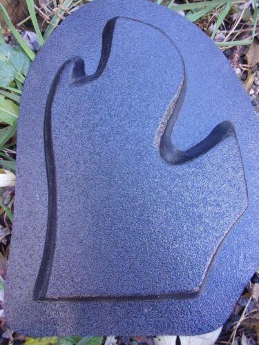 "Michigan state plaque mold garden casting plaster concrete  9.5/"" x 6/"" x 3//4/"""