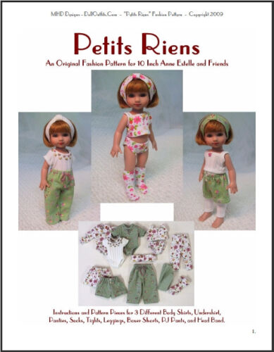 Petite Riens Fashion Pattern for 10 Inch Tonner Ann Estelle and Patsy Dolls