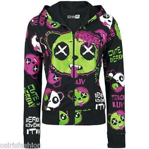 NEW-GOTHIC-EMO-PUNK-ALTERNATIVE-POIZEN-INDUSTRIES-KP-ZOMBIE-LUV-WOMEN-HOOD