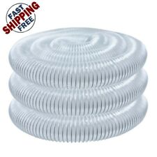 Dust Collector Hose Replacement 4 X 20 Feet Clear Pvc Flexible Self Grounding