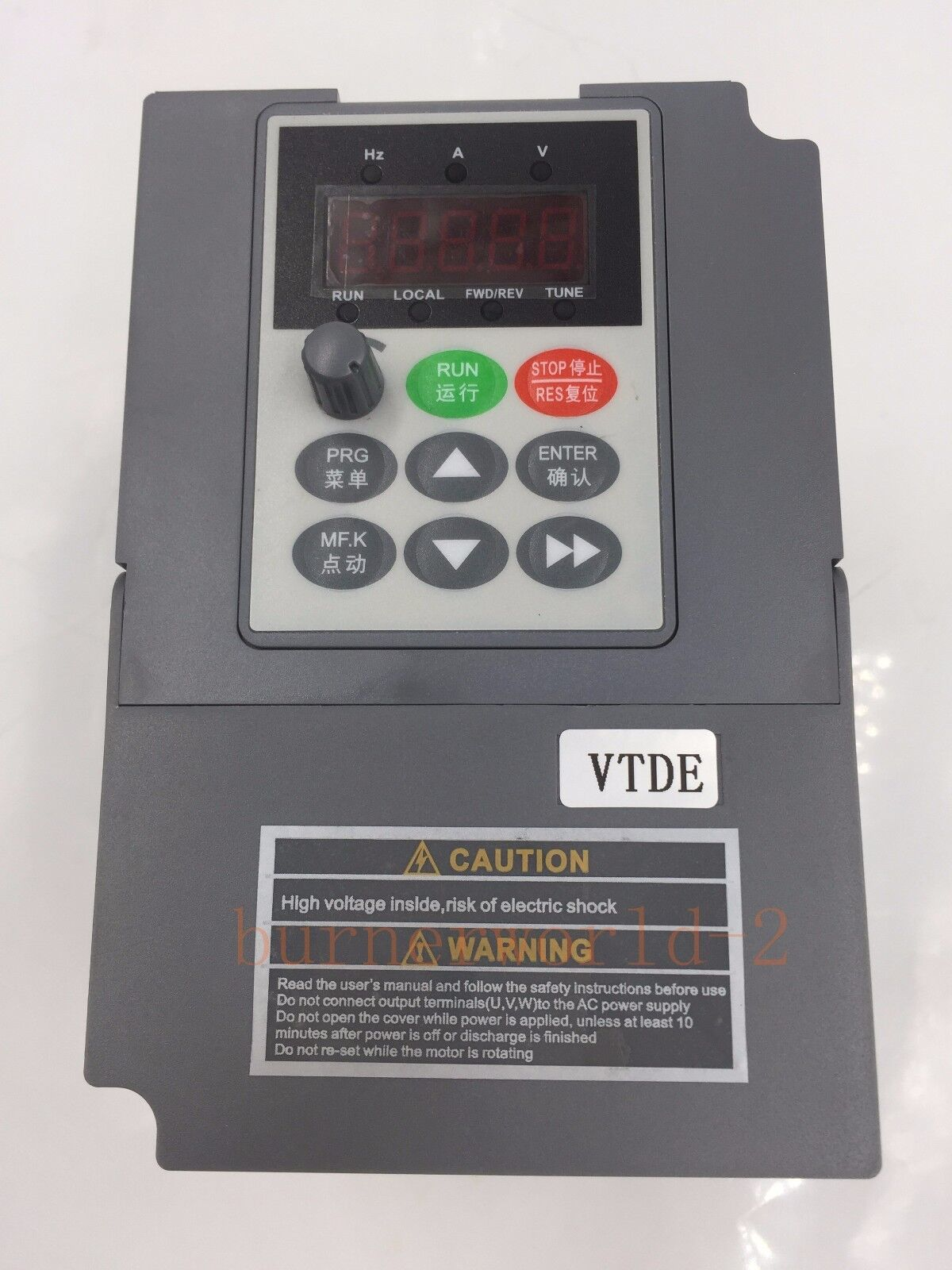 VFD inverter frequency converter 2.2kw 3HP 300hz general 1PHASE 220VAC input 3ph