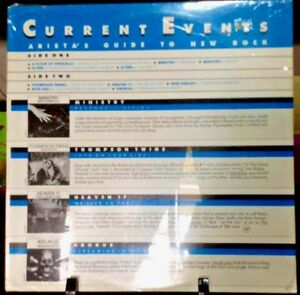CURRENT EVENTS Arista's Guide to New Rock Album Collection Released 1983 SEALED