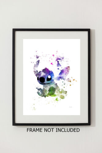 ART PRINT Stitch illustration Disney Gift Wall Art Lilo and Stitch