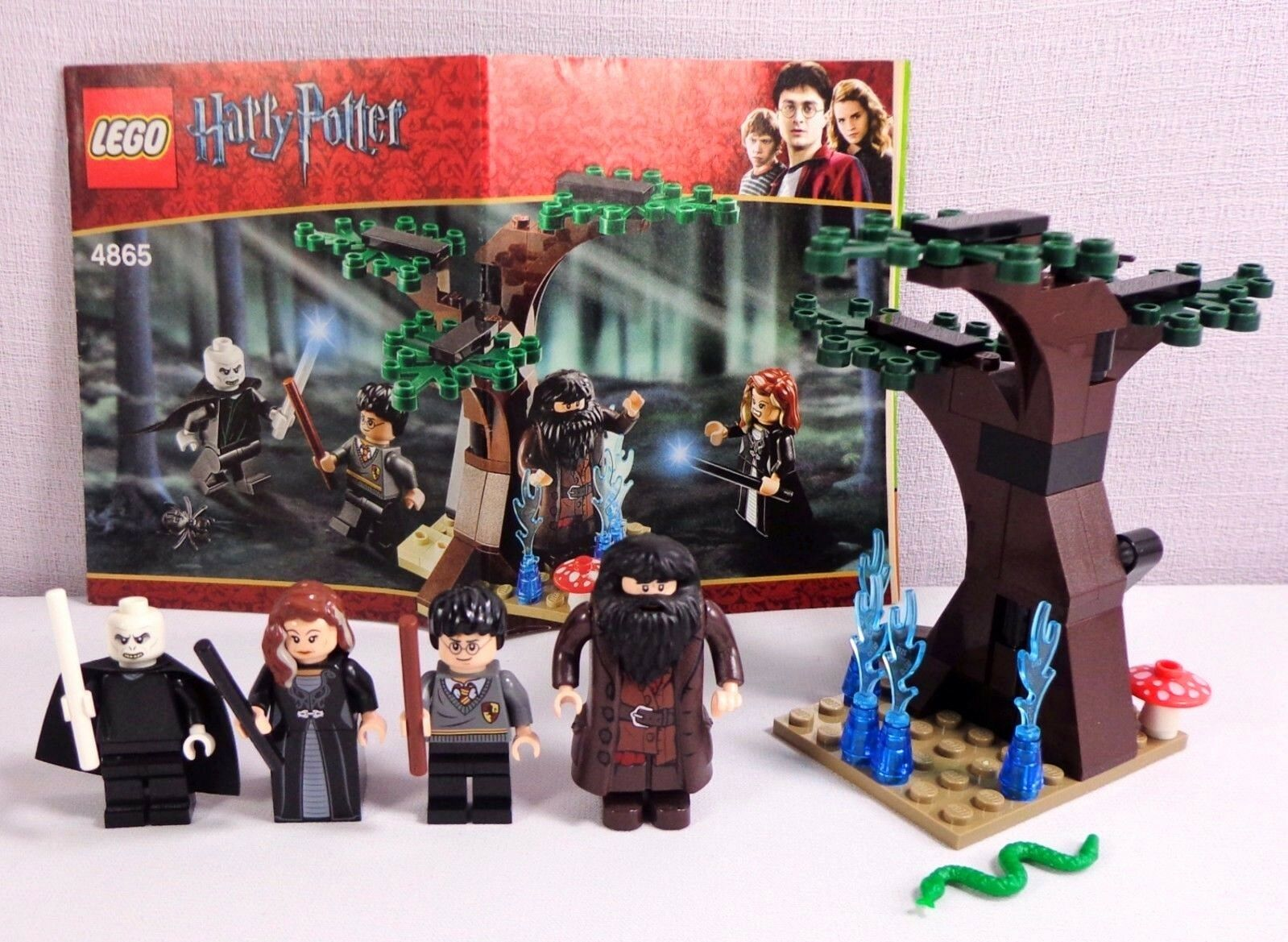 Lego Harry Potter Complete Set 4865 The Forbidden Forest with 4 Minifigs