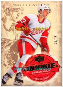 UD-ARTIFACTS-2008-DARREN-HELM-NHL-RC-251-DETROIT-RED-WINGS-MINT-ROOKIE-75