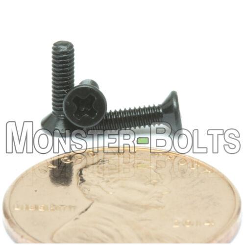 Steel w Black Ox Countersunk DIN 965 M2 x 8mm Phillips Flat Head Machine Screws