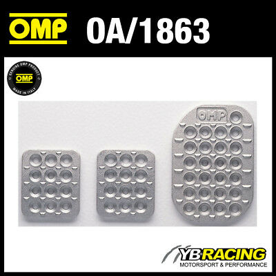 OMP Sand Blasted Aluminium Pedal Set Extensions Race//Rally