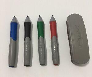 Smart Board Complete Set of Pens Red Green Black Blue and Eraser