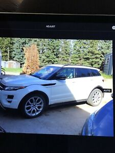 2012 Land Rover Range Rover Evoque black