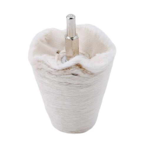 6MM Buffing Polishing Flannel Wheel 4Pcs//set Handle Cloth Shank Brush Wheel SU