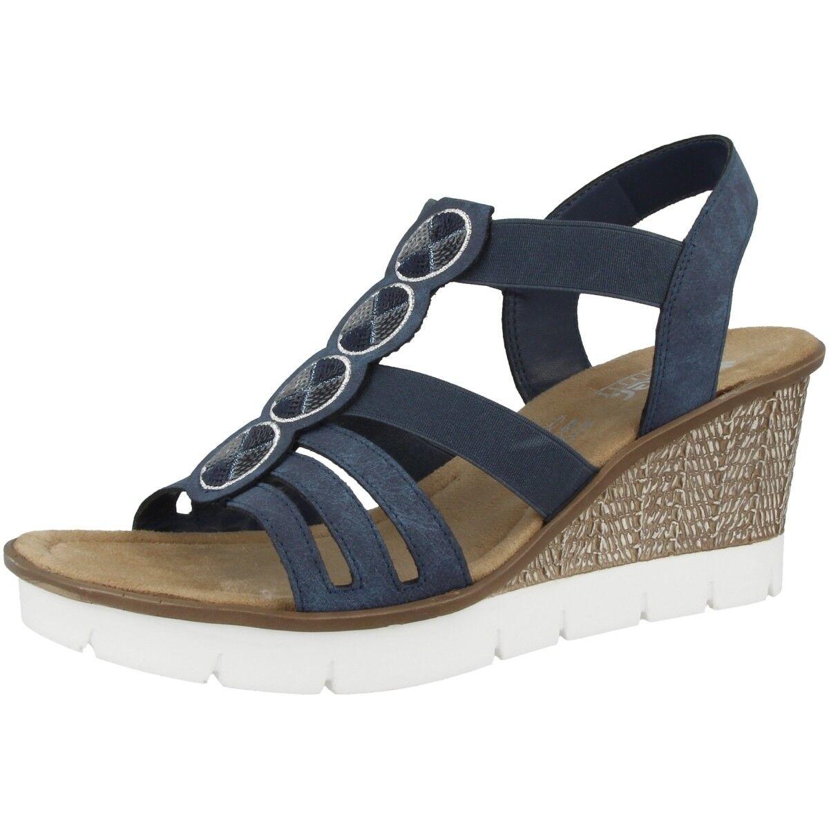 Rieker Morelia Morelia Morelia mujer zapatos mujer Antiestrés Cuña Sandalias Atlántico 65515-14  A la venta con descuento del 70%.
