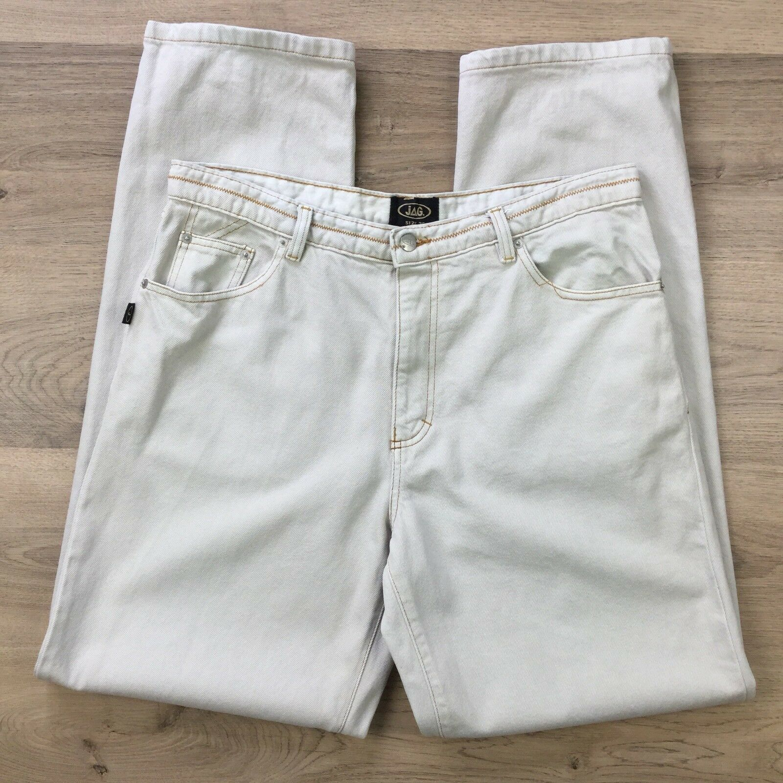 Jag Men's Jeans Western Styling Tapered Size 36  L33.5 (BO10)