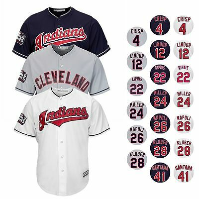2016 Cleveland Indians MAJESTIC World Series Cool Base Jersey Collection Men's