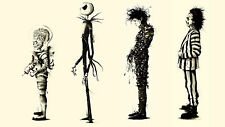 Tim Burton movies Beetlejuice fan art Edward Scissorhands Silk Poster 24x36inch