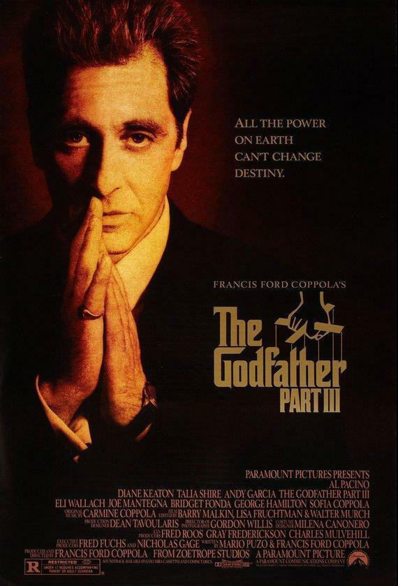 Vintage The Godfather III Movie Poster   Classic Movie Poster  Movie Poster  Pos