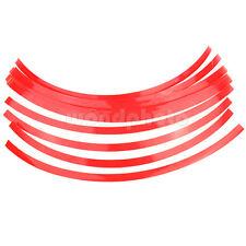 16 X Tiras Adhesivas Pegatinas Reflectantes para Rueda Llanta Auto Moto Escúter