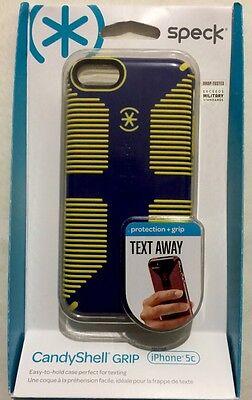 df4b7457b4d Speck CandyShell Grip Case -Cadet Blue/Goldfinch Yellow for iPhone 5c  SPK-A2246