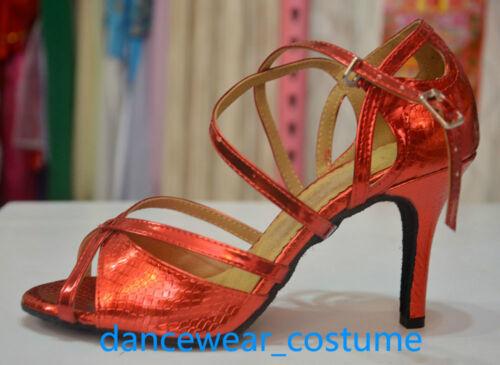 New Ladies Party Ballroom Latin Tango Samba Dance Salsa Shoes Heels Sandals U5-9