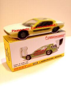 DINKY-TOYS-No-189-SUPERBA-scatola-di-presentazione-personalizzate-Lamborghini-Marzal
