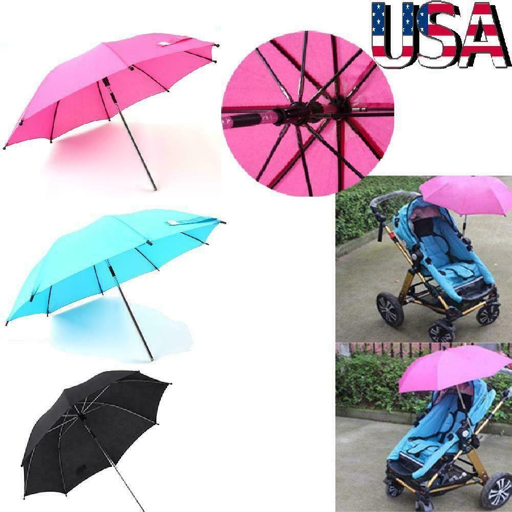 Baby Sun Umbrella Parasol Pram Pushchair Canopy Waterproof Protect Sun