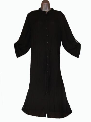 Plus size sheer chiffon maxi length button through shirt