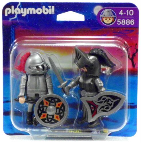 Plaquette thermoformée Duo Pack de fer chevalier playmobil 5886 V.' 10 à Ritterburg tour neuf dans sa boîte NEUF