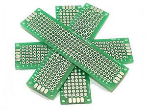 Recto-verso-20mm-x-80-mm-matrice-PCB-PROTO-carte-de-circuit-2x8cm-fibre-de-verre-UK