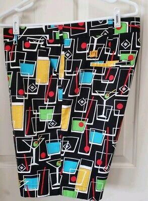 "Euc. Fun Print Men's Loudmouth ""happy Hour"" Shorts Size 40 X 10"