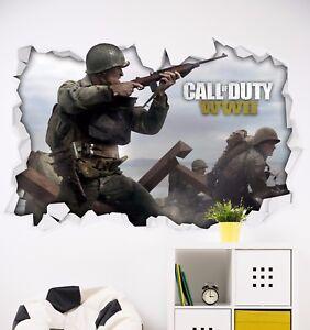Image Is Loading Call Of Duty WW2 Beach Theme Sticker Wall