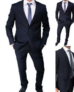 Da Completo Elegante Vestito 48 Uomo Blu 46 Abito Classico Cerimonia mNwv80n