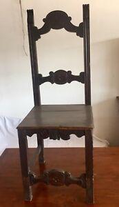 4 Sedie Antiche In Legno Intagliate | eBay