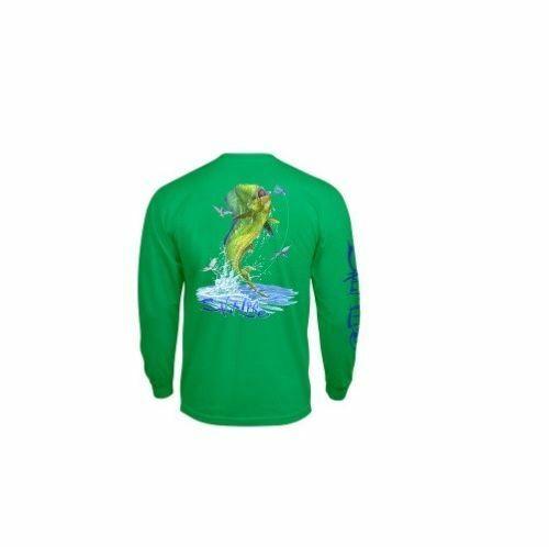 Salt Life Men/'s Mahi Explosion Long Sleeve Pocket Tee