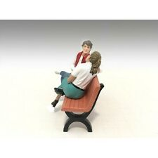SITTING FIGURES ADAM AND KRISTAN 2PC SET 1:18 SCALE AMERICAN DIORAMA 23887-23888