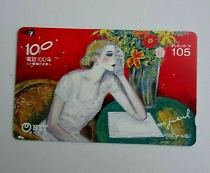 Cassigneul-NTT-Japan-Phone-Card-The-100th-Anniversary-of-Telephone-Biz-0-balance