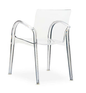 Image Is Loading Ghost Acrylic Plexiglass Chair Armrest Chair Glass Clear