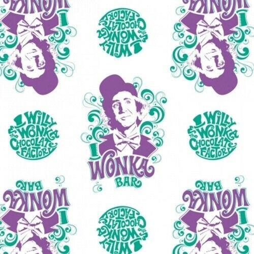 Camelot Fabrics Willy Wonka and the Chocolate Factory 23230101 3 White Willy