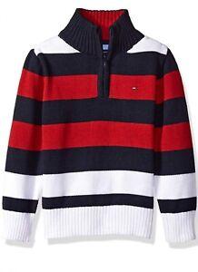 Tommy Hilfiger Boys Logo Half Zip Sweater