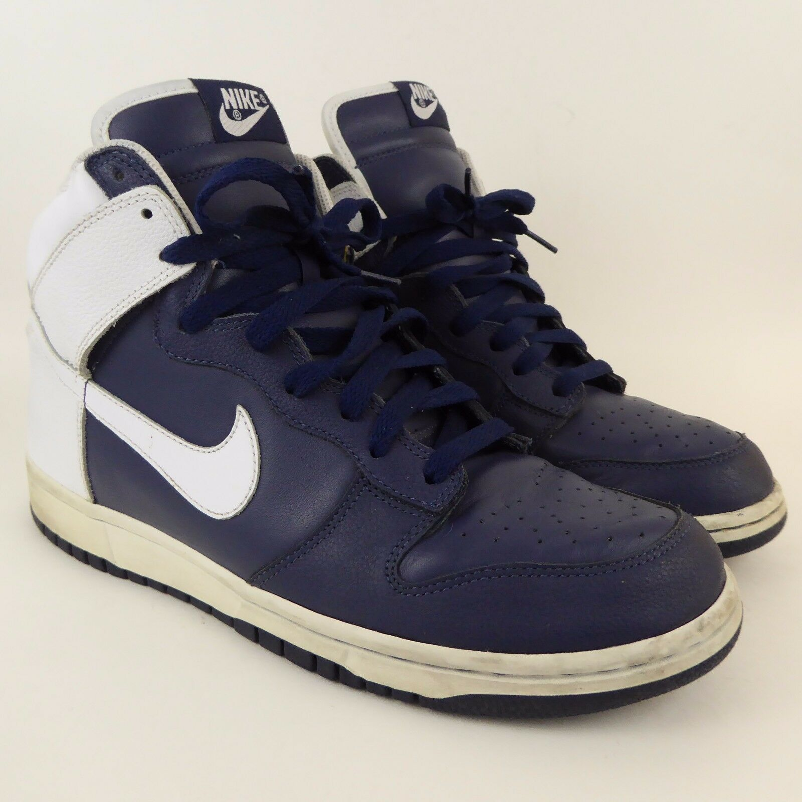 Nike Dunk High 2018 309432-411 Midnight Navy Blue and White Size 10.5