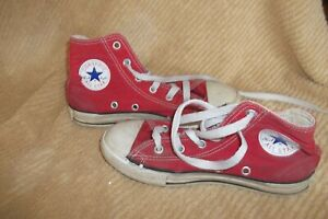 All Star Converse Chuck Taylor High Tops Red Shoes Youth Boys Girls