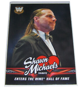 WWE-SHAWN-MICHAELS-Tribute-Wrestling-Card-37-Enters-Hall-Of-Fame-Topps-2018
