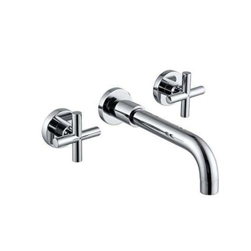 Chrome//Black//Gold//Nickel Bathroom Wall Mount Basin Tub Mixer Faucet 2 Handle Tap