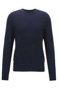Blue Brand Cotton Dark Boss s Kelvor Sweater blend £130 Hugo Small New Rrp XwzYqnxz