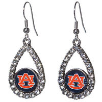 Auburn University Tigers Teardrop Logo With Small Logo Earrings