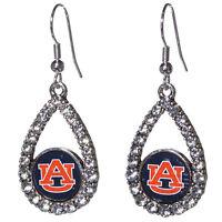 Auburn University Tigers Teardrop Logo With Small Logo Earrings