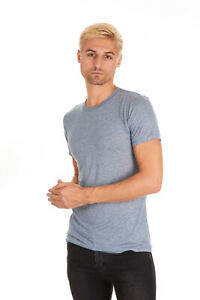 Pacific-Men-039-s-Super-Soft-Rayon-Short-Sleeve-Crew-Neck-T-Shirt